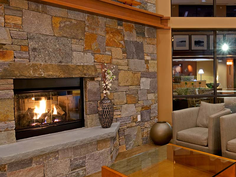 Our common area features a fireplace.