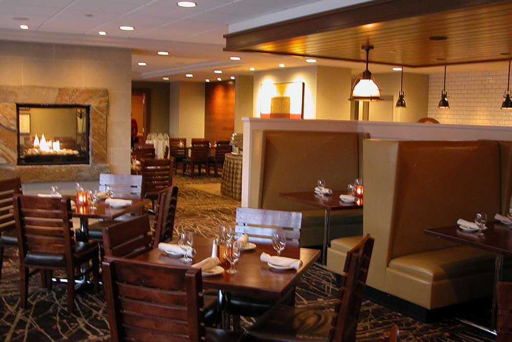 Tables and Booths in Restaurant